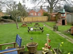 view from decking to garden